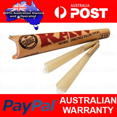 5x RAW Pre-Rolled Classic Hemp Cones - 6 Cones Per Pack Total 12 Papers 1 1/4