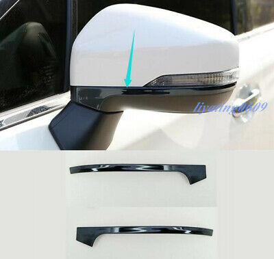 2PCS Black titanium Rearview Mirror Cover Trim Strips For Subaru Forester 2019