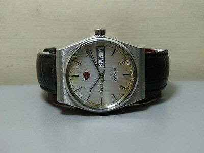 Vintage Rado Voyager AUTOMATIC Day Date Wrist Watch E768 Old Used Antique