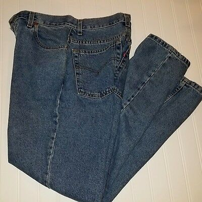 6f8119a7bdb Vintage Levis 550 Jeans Juniors Ladies Size 11 Relaxed Fit Tapered Leg 1999