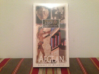 Time life's lost civilizations Aegean Legacy of Atlantis VHS SEALED