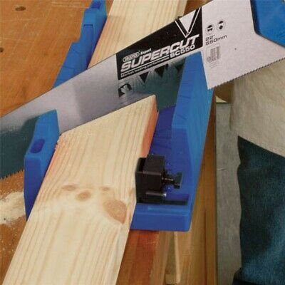 SECURE/PRECISE MITRE BLOCK BOX + CLAMPS Accurate Angled Coving Skirting Cutting