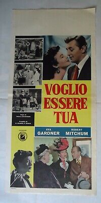 AVA GARDNER+ROBERT MITCHUM/ OUT OF THE PAST/ F17F/  italy poster