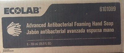 Case of Six Ecolab #6101089 Advanced Antibacterial Foaming Hand Soap. DigiClean.
