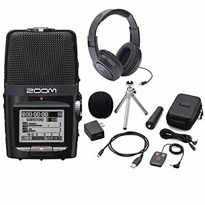 Zoom H2n Handy Handheld Digital Multitrack Recorder Bundle with APH-2n Accessory