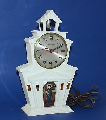 MASTERCRAFTERS MODEL No. 560 CHURCH WITH BELL RINGER ELECTRIC CLOCK - WR135