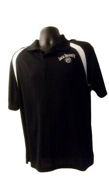 Jack Daniels Polo Shirt Old no 7 Embroidered Black Short Sleeve Size XL Golf 8e5904fe2a