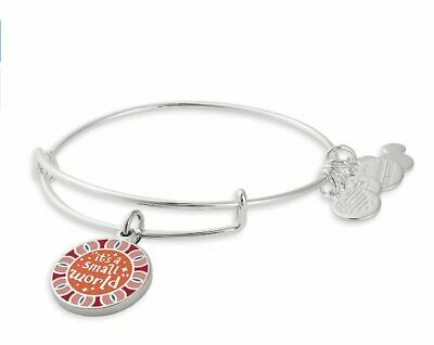 Disney Parks Alex And Ani It's A Small World Double Sided Silver Bracelet New
