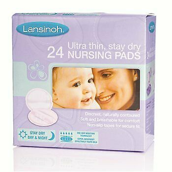 Lansinoh Disposable Nursing Pads for Maternity Breastfeeding Mothers-Pack Of 24