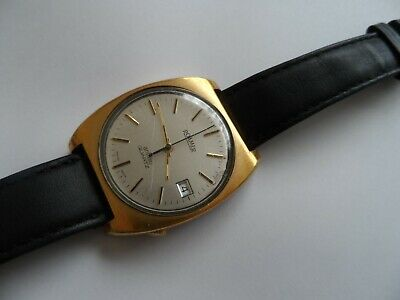 Vintage Roamer Anfibio Gold Plated Date Swiss Made Men's Watch. Not Working.