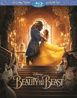 NEW Beauty and the Beast 2017 emma watson Disney (Blu-ray+DVD+Digital MOVIE