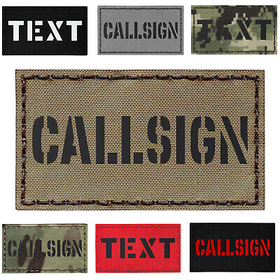 """Custom 2""""x3.5"""" Your Callsign Army Military Morale Tactical Laser Cut Patch #CST"""
