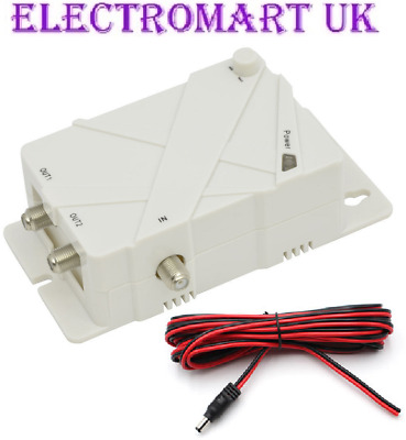 12V 24V Input Masthead Aerial Amplifier Power Supply Including 2M Dc Cable