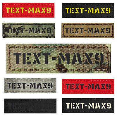 """Custom 1""""x3.5"""" Your Name Tape Army Military Morale Tactical Laser Cut Patch #CST"""