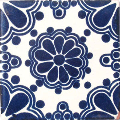 Mexican Tile sample Ceramic Handmade 4x4 inch GET MANY AS YOU NEED !! #C057