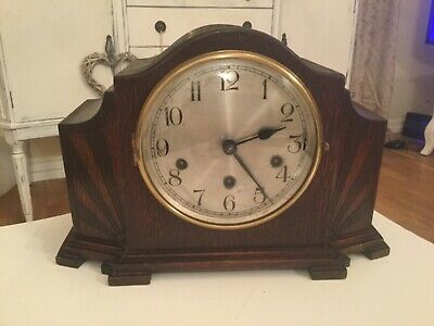"Large Art Deco Haller Westminster chime mantel clock for repairs 9"" high"