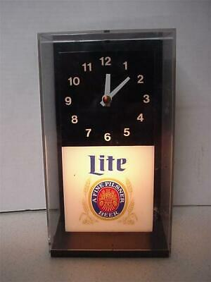 Lite Beer Clock  9 X 5 Inches       Clock & Light  Works