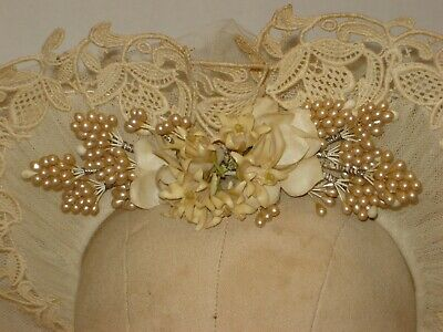 Antique Vintage Wedding Bridal Crown Headpiece Veil