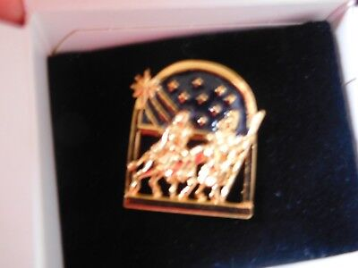AVON Holy Family Goldtone TAC PINS ~ lot of 2