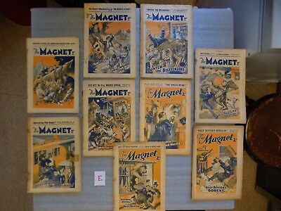 E - THE MAGNET - BOYS MAG / COMIC  - 1934 to 1936 - 9 RARE ISSUES - BILLY BUNTER