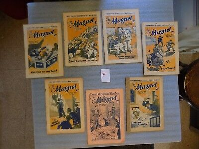F - The Magnet - Boys Mag / Comic  -  From 1937 - 7 Rare Issues - Billy Bunter