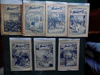 B- THE MAGNET - BOYS MAG / COMIC  - 1918 to 1922 - 7 RARE ISSUES - BILLY BUNTER