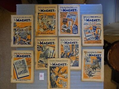 D- The Magnet - Boys Mag / Comic  - All From 1933 - 9 Rare Issues - Billy Bunter