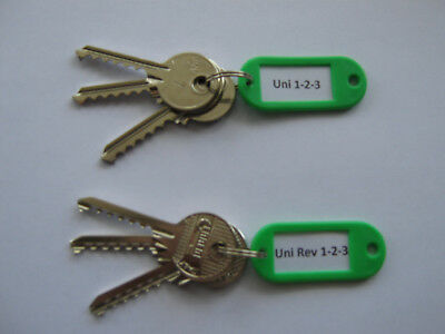 Universal and Reverse 6 Key Set Cut to Code Locksmith Lock Sport Tools