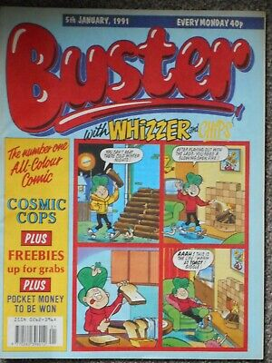 Buster with Whizzer & Chips Comic 5th January 1991