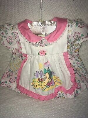 Vintage Disney Babies Minnie Mouse's Farm-Baby Girl Dress  Size 0/6 Months
