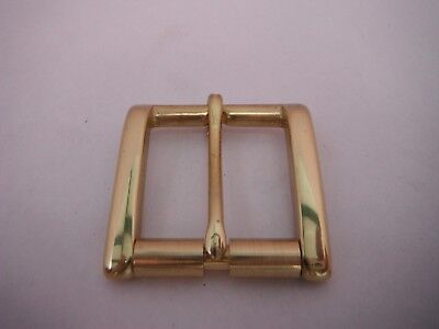 Solid Brass Roller Buckle  For 28Mm To 30Mm Belts Quality Polished Brass New