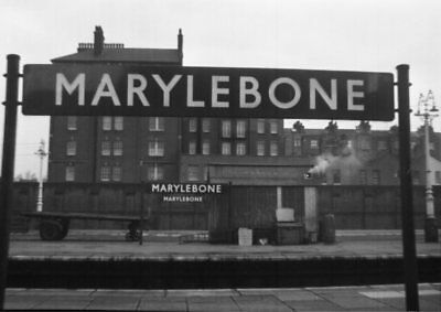 Photo  Lner Marylebone Railway Station Nameboard Great Central Railway