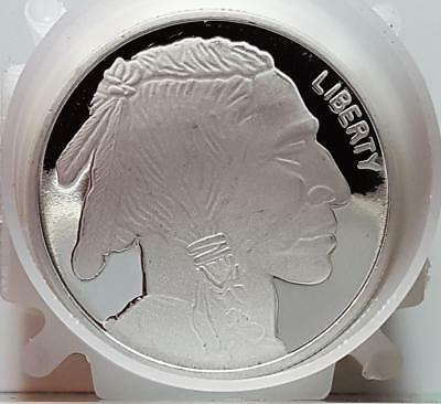 Silvertowne 1 Troy Ounce .999 Fine Silver Buffalo Indian Round