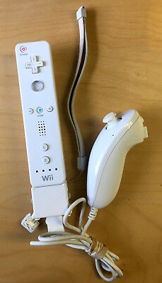 Official Nintendo White Wiimote Wii / U Remote Controller & Nunchuck Motion Plus