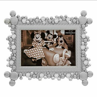 Disney Parks Mickey Head Icons Silver 4X6 Photo Picture Frame New