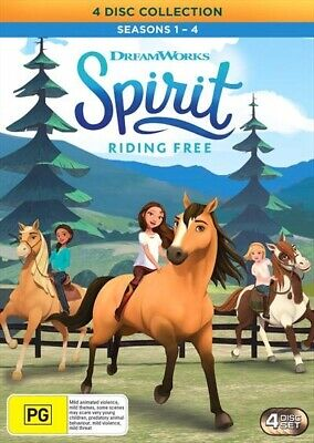 Spirit - Riding Free : Season 1-4 (DVD, 4-Disc Set) NEW