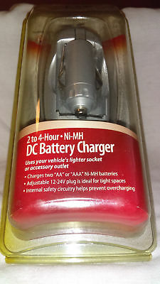 12v car 2-4 Hour DC Battery Charger 23-017  4 Ni-MH AA and AAA and free wall