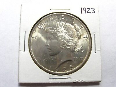 Uncirculated BU 1923-P  Peace Silver Dollar - #4975