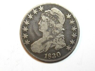 1830 Capped Bust Half Dollar - Large 0 -  Fine - #2147