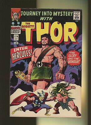Journey Into Mystery 124 FN+ 6.5 * 1 Book Lot * 2 Thor Stories by Lee & Kirby!