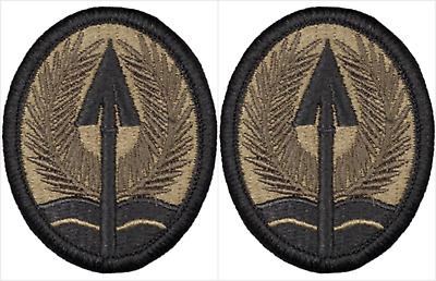 2 Pack U.S. Army MultiNational Corps Iraq OCP Hook Military Patches