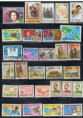 Liberia Africa Stamps Canceled  Used & Mh  Some Sets  Lot 39473