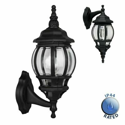 Traditional Style  & Clear Outdoor Security Wall Light Lantern - IP44 Rated