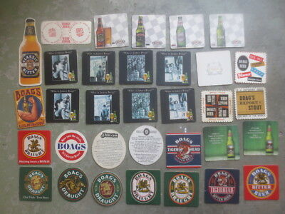 33 different BOAGS BREWERY,Tasmania   Issued BEER Coasters
