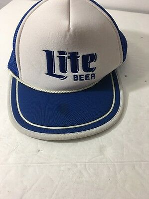16084d0230b ROLLING ROCK BEER Trucker Hat mesh hat snap back hat navy vintage ...