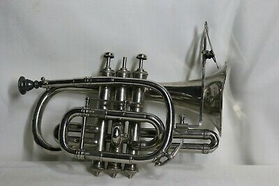 Antique Cornet by M. Dupont, made in Paris France 1900 Mother of pearl Keys