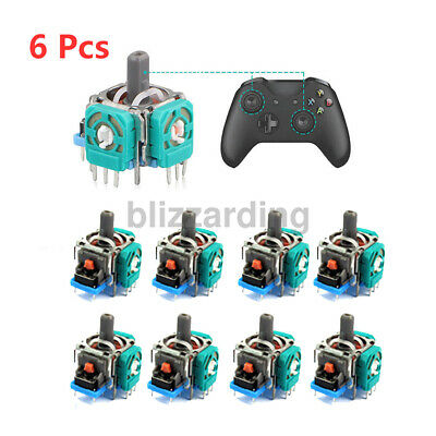 6pcs 3D Analog Joystick Stick Rocker Replacement fit XBox One PS4 Controller US