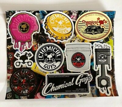 Chemical Guys Wax Pack of 9 DECAL STICKER DRAG OFFROAD NASCAR RACING MAN CAVE