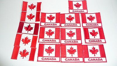 15 Canadian Flag Embroidered Patch Lot assorted Canada Flag With Imperfections