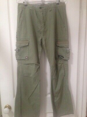 Rusty Cargo Pants - Army Green - Boys - Size 16 - New